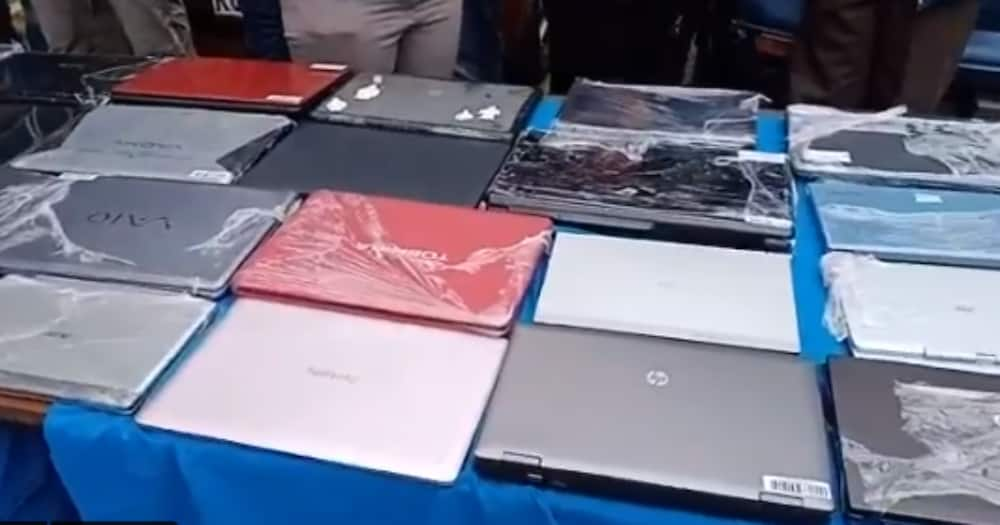 Nairobi police recover hundreds of stolen phones, laptops ask owners to go identify them