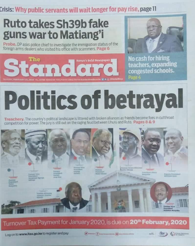Kenyan newspapers review for February 20: Looming crisis at Supreme Court as CJ David Maraga seeks early retirement