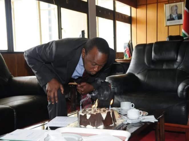 Uhuru Kenyatta.