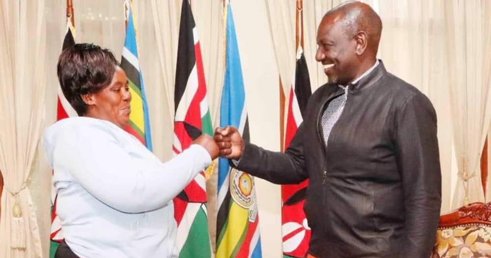 The Machakos woman, Elizabeth Mueni, and five other people visited DP William Ruto.