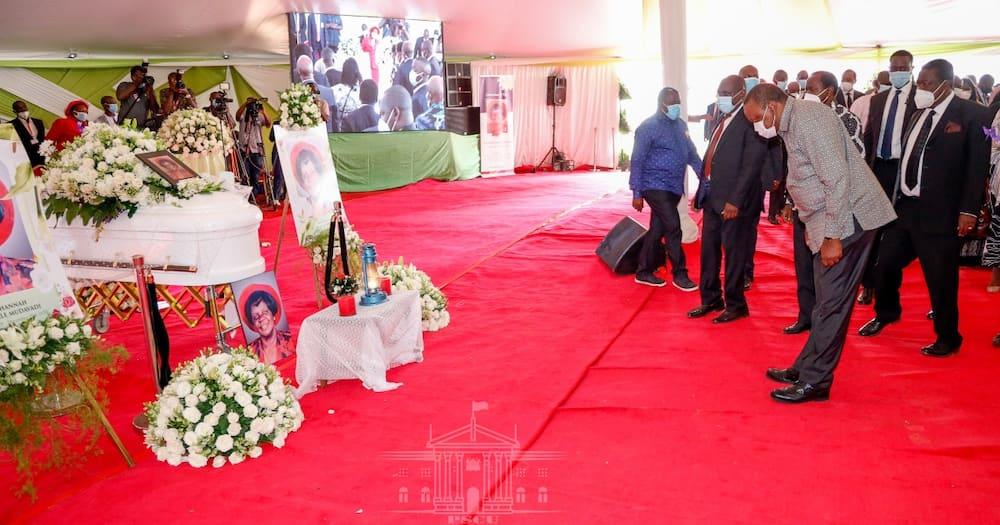 Uhuru Kenyatta in Vihiga to attend burial of Mama Hannah Mudavadi