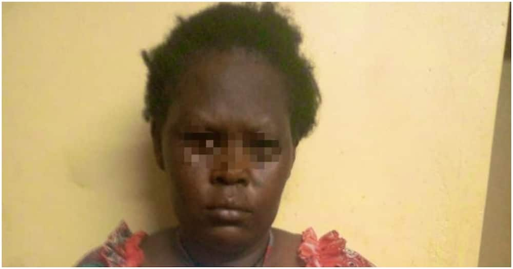 Ruth Moraa suspected of abducting a three-year-old boy in Kisii. Photo: DCI.
