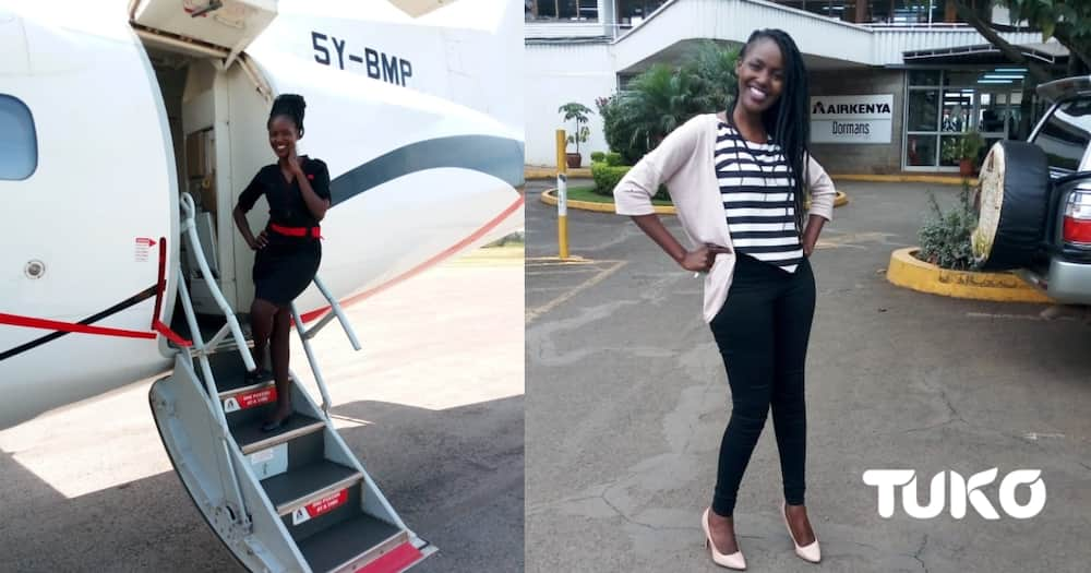 Nairobi: Meet 27-year-old student who juggles between cabin crew job, taxi and clothes businesses