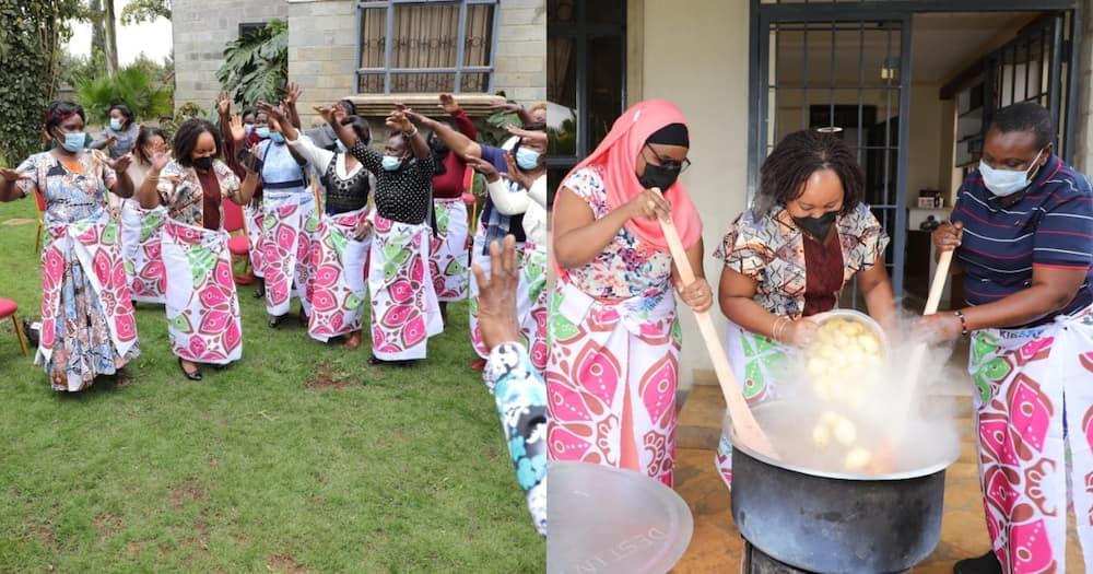 Anne Waiguru meets Kirinyaga women leaders, cooks pilau Njeri.