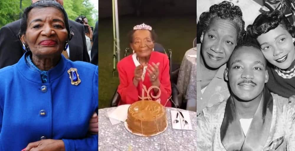 The oldest sister of Martin Luther King Jr celebrates 94th birthday.