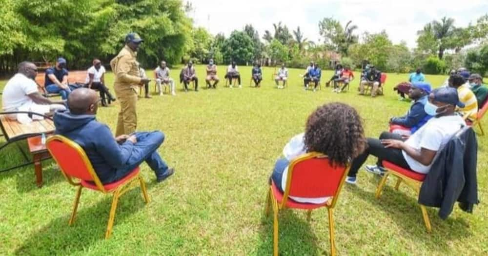 Kenyans Express Mixed Reactions After William Ruto Hosted Khaligraph Jones, Other Artistes