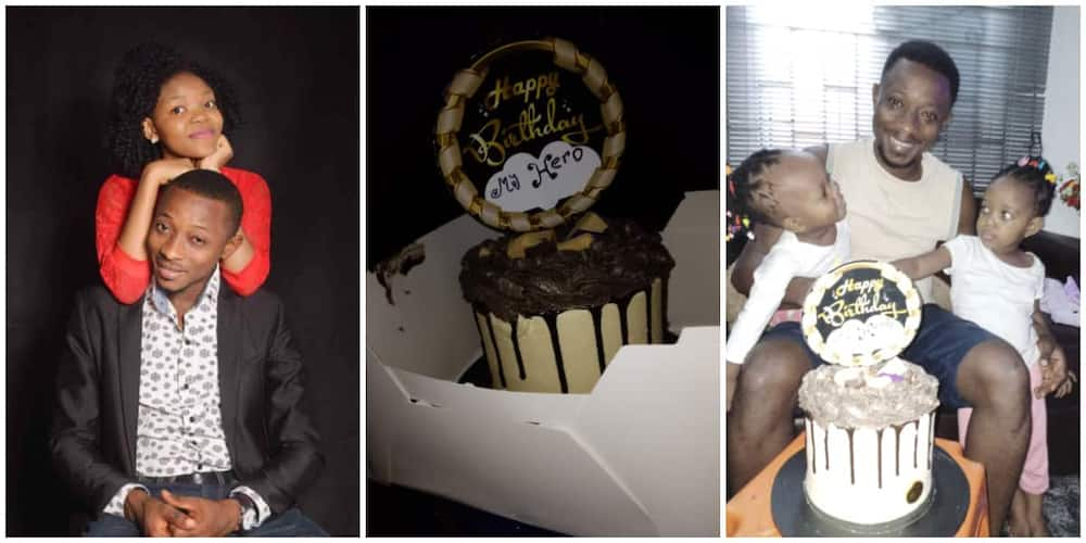 Nigerian Man Celebrates as He Receives Birthday Cake for the First Time in His Life, Shows it off, Many React