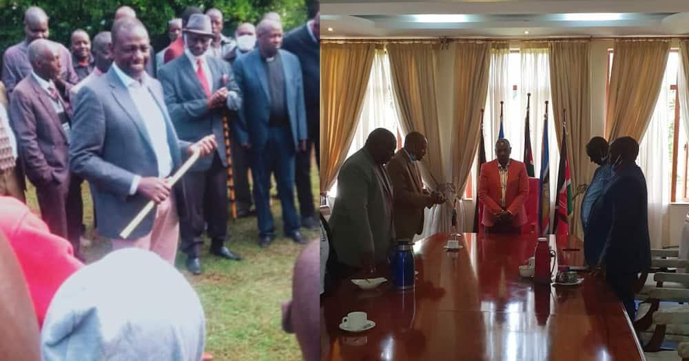 DP Ruto akutana na viongozi wa makanisa baada ya kutawazwa na wazee wa jamii ya Talai