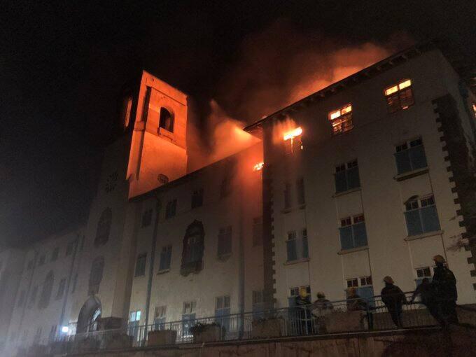 Makerere University: Night fire destroys buildings at famous varsity