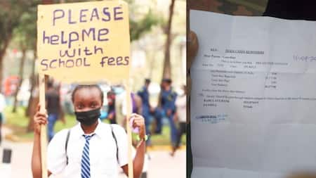 Nairobi: Teary Form Two Girl Begs for Help to Clear Fees in City Streets Carrying Placard