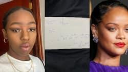 Elsa Majimbo shows off handwritten letter she got from Rihanna while celebrating singer's birthday