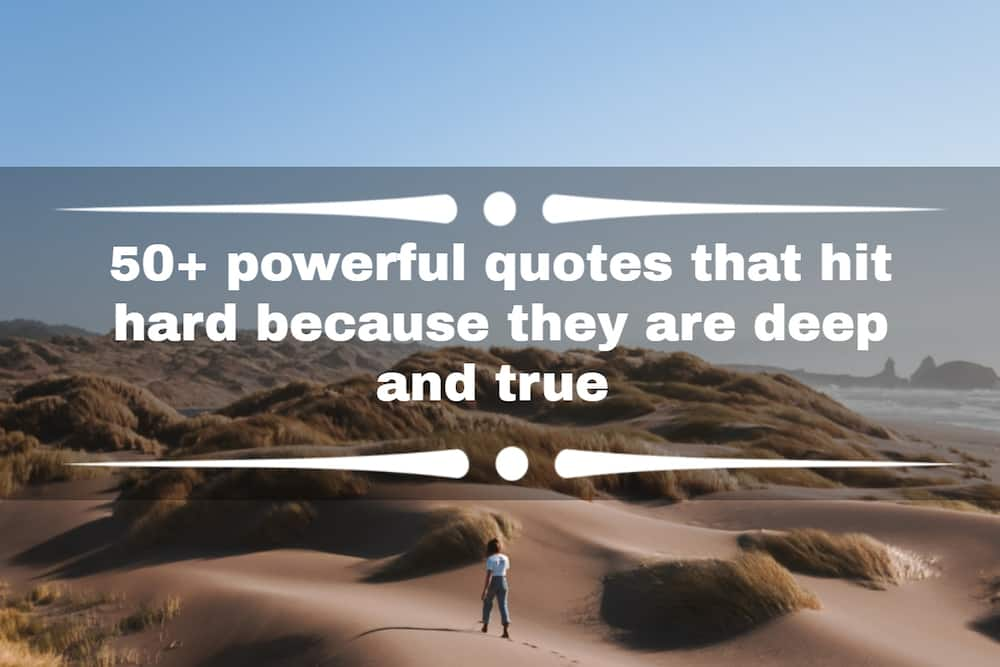 Quotes that hit hard