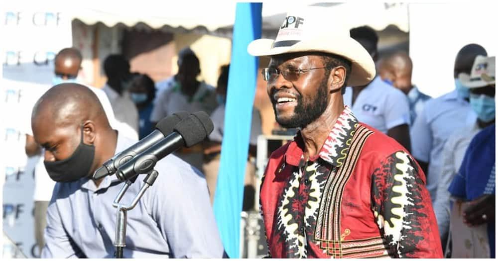 Kisumu Governor Anyang' Nyong'o during the unveiling of Anderson Ofafa housing project. Photo: Anyang' Nyong'o