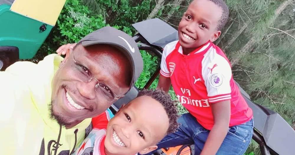 Ababu Namwamba took his kids for a day of fun.