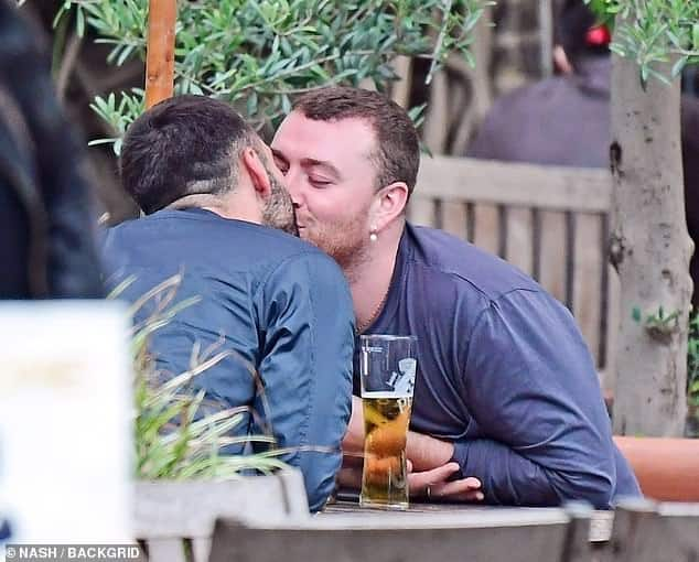 Sam Smith and new boyfriend caught on camera kissing passionately
