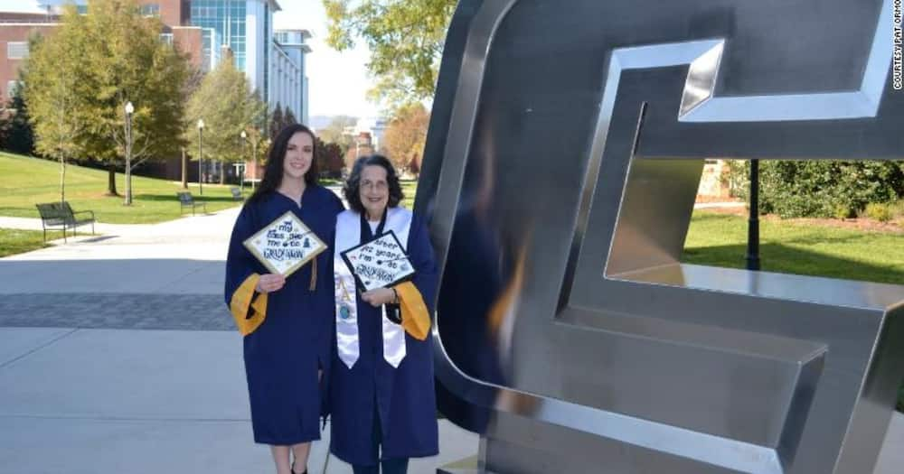 74-year-old grandma graduates with Degree in Anthropology alongside granddaughter