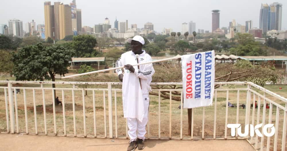 Chief Joseph Chebii in Nairobi. Photo: TUKO.co.ke.