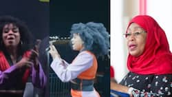 Singer Nandy Answers President Samia Suluhu's Phone Call While Performing on Stage, Shares Talk With Fans