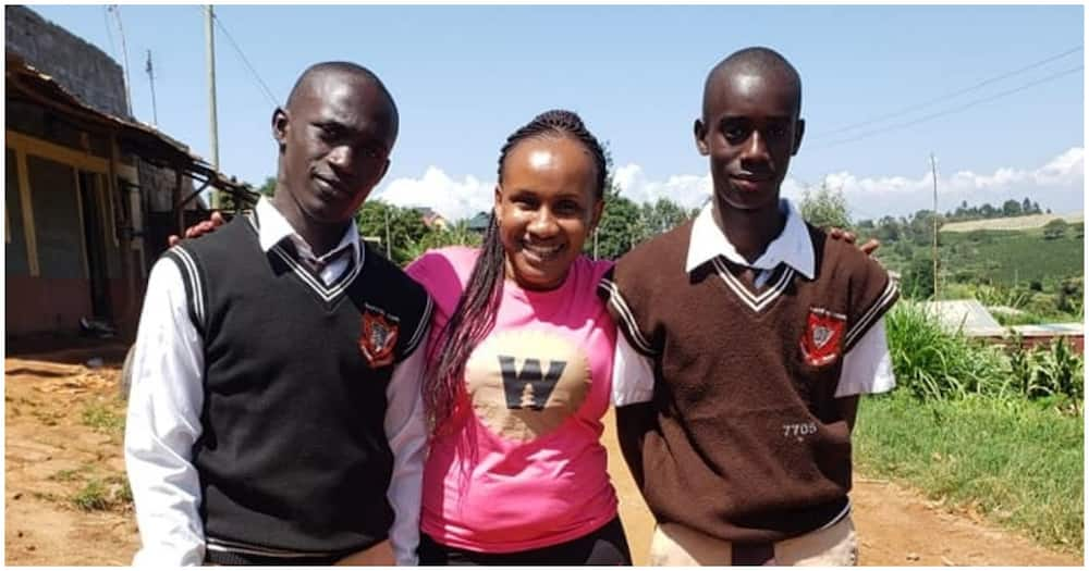 Kenyans buy shopping, pay school fees for needy Makuyu Boys students who live with grandma