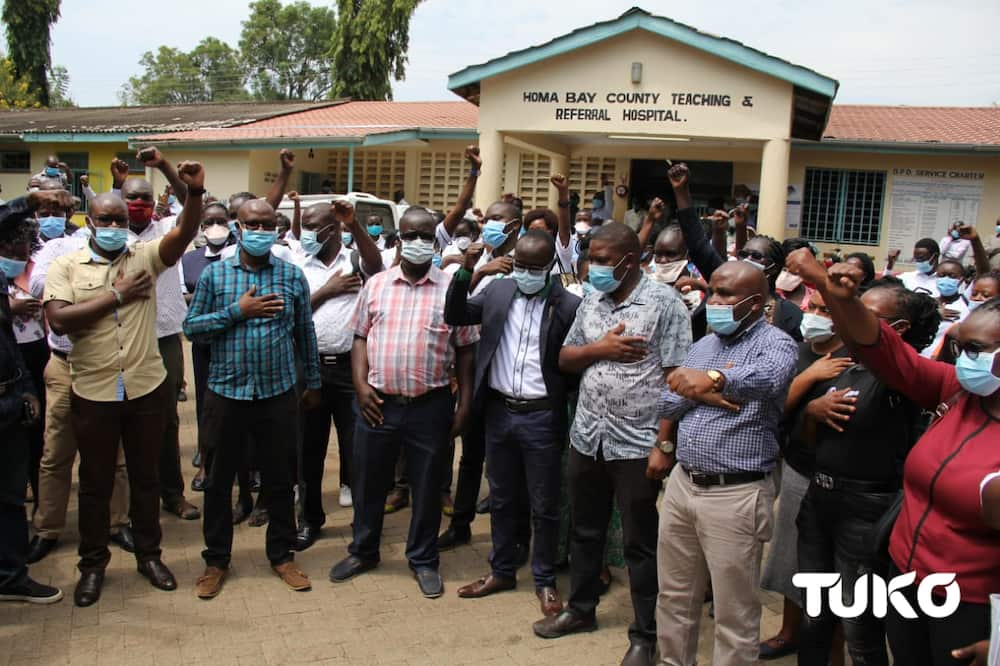 Homa Bay: Health workers go on strike over unpaid 3-month salaries