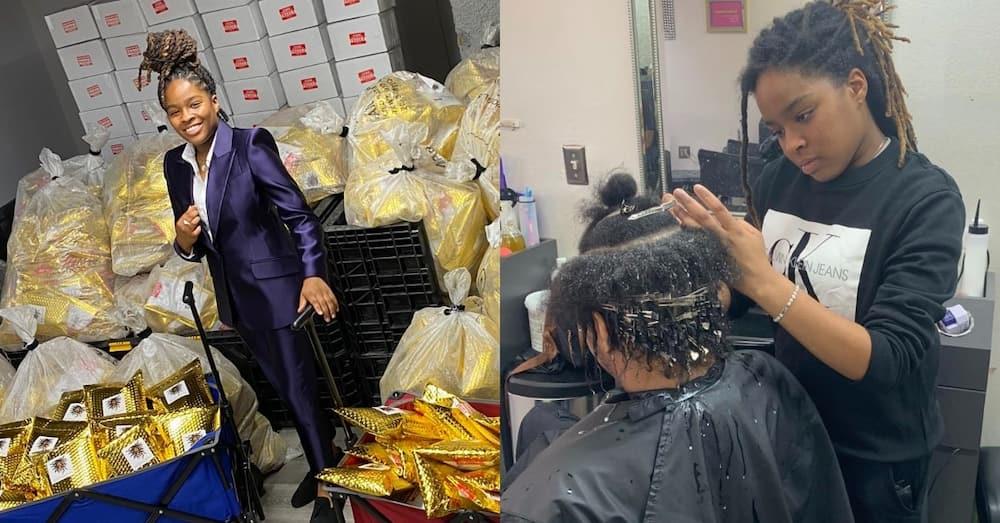 Stunning 20-year-old hairdresser surprisingly turns millionaire; shares her journey
