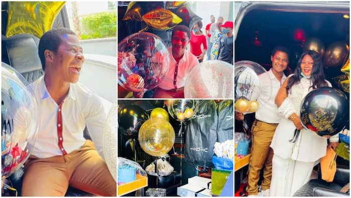Bale Mpya: Lady Spoils Husband on Birthday By Giving Him Vehicle Filled With Gifts
