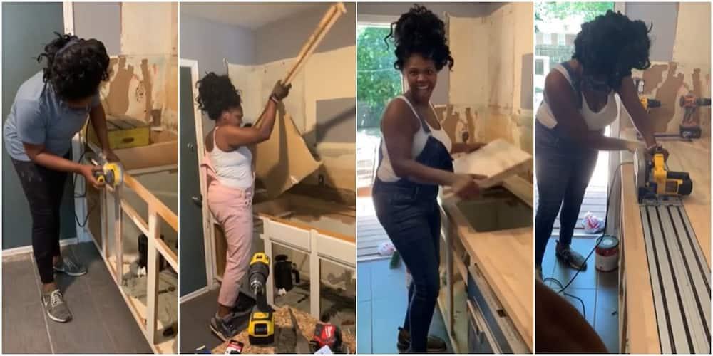 Young woman inspires social media with plumbing job