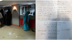 Bank Cleaner Leaves Emotional Note for 'Cruel' Boss on Last Day at Work