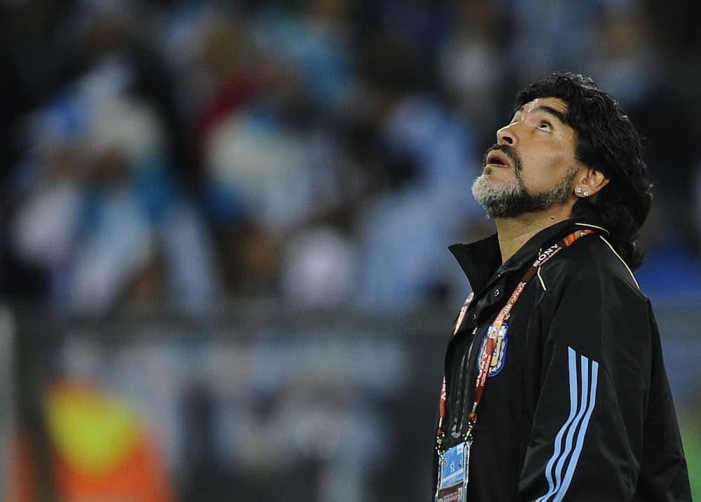 A file photo of Diego Maradona. Photo credit: GIANLUIGI GUERCIA/AFP.