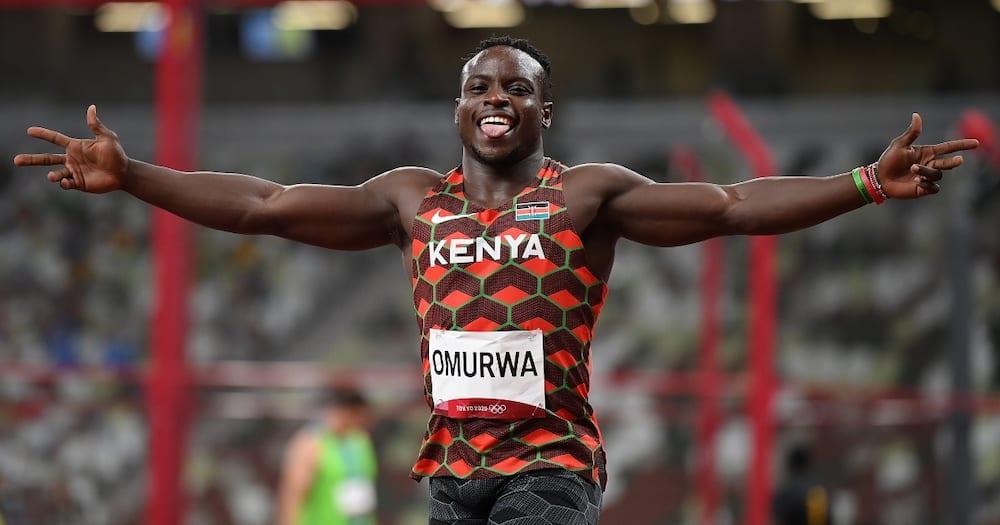Omanyala for Team Kenya.