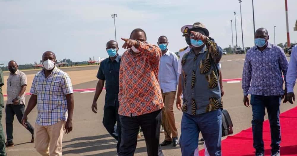Raila receives Uhuru in Kisumu Ahead of Madaraka Day Celebrations