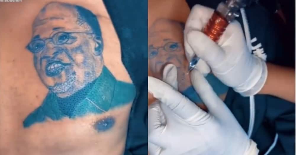 Loyal Magufuli Fan Gets Tattoo of Late Tanzanian President on Arm