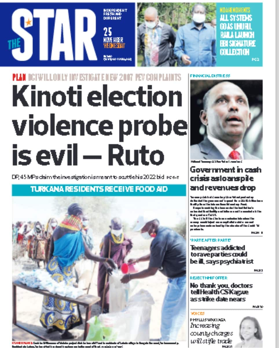 Kenyan newspapers review for November 25: BBI team drops 3 key proposals in push to build consensus ahead of referendum