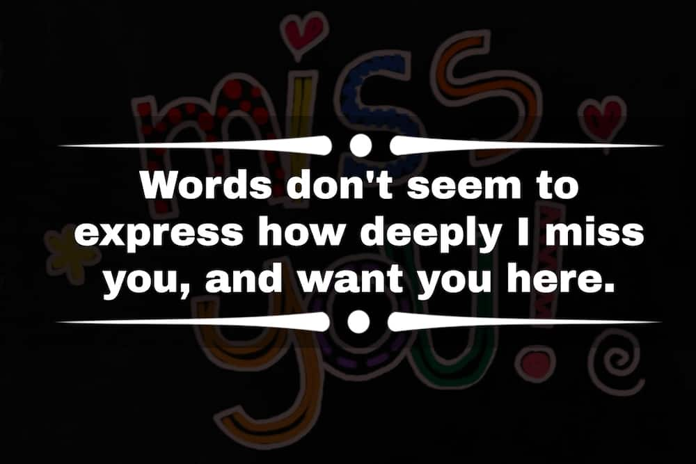 Missing you messages for girlfriend.