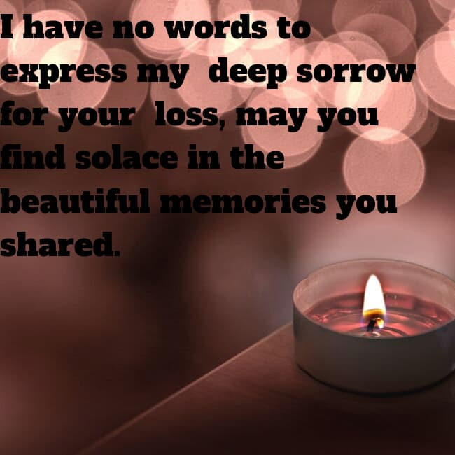 condolence messages for loss of a loved one
