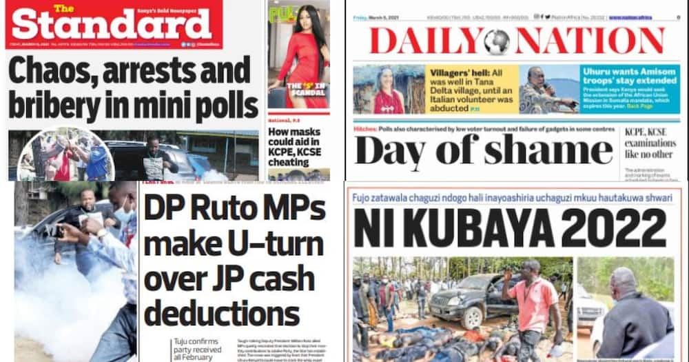 Kenyan newspapers review for March 5: Justin Muturi to be installed new Mt Kenya spokesman