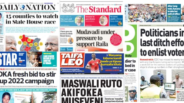 Kenyan Newspapers Review For October 25: 15 Counties That Will Shape 2022 Race To State House