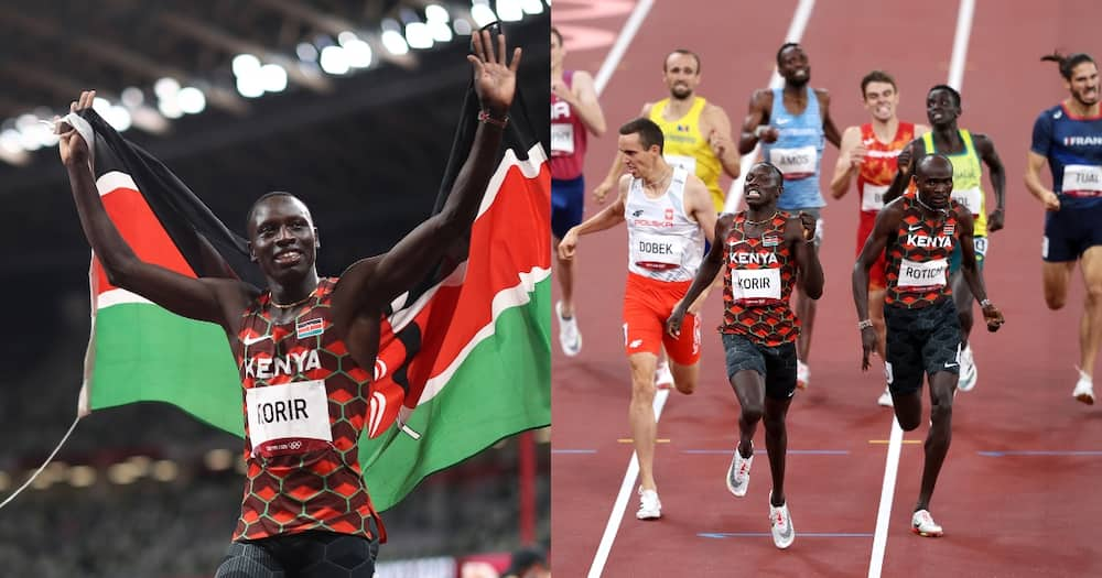 Kenya's Emmanuel Korir bags gold in 800m final.