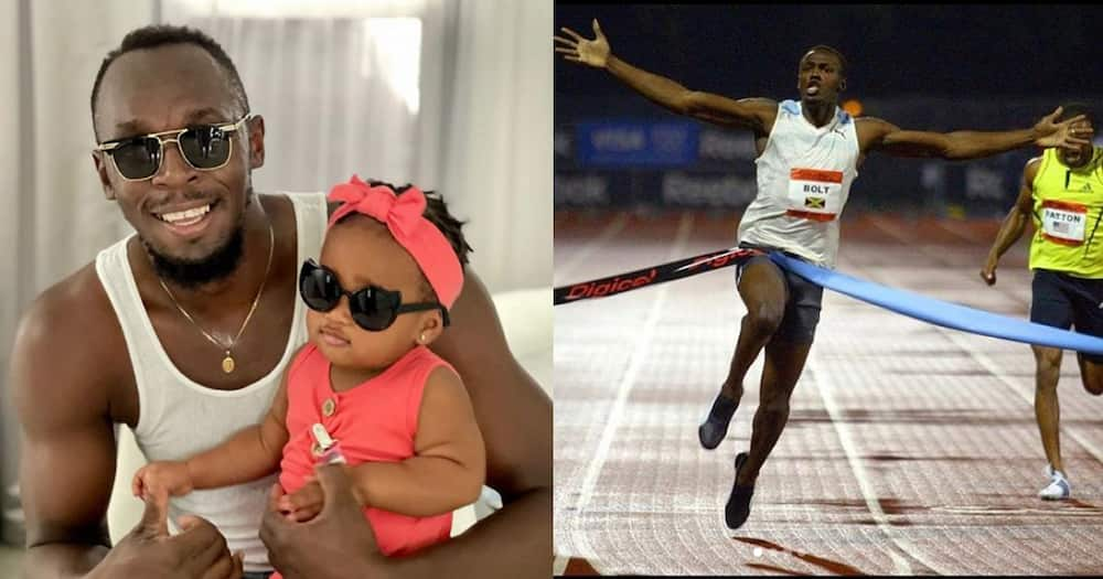 """Usain Bolt Posts Adorable Photo with Daughter Olympia: """"Fly Like Her Dad"""""""