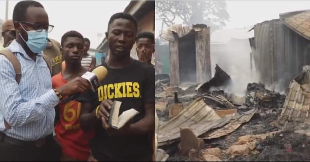 Bible found unharmed in shop that was burnt down completely at Odawna Market