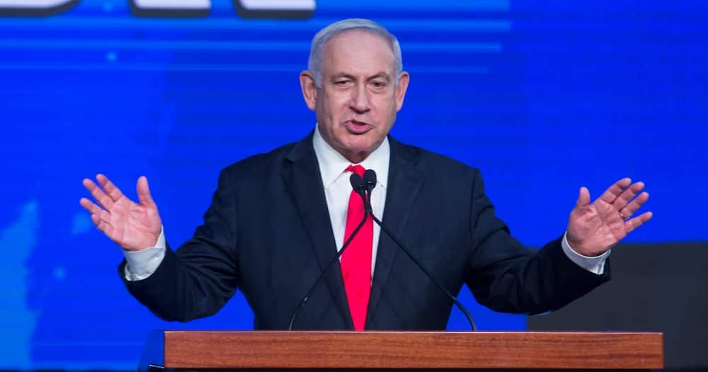 Former Israeli Prime Minister Benjamin Netanyahu speaks in an event on March 24, 2021, in Jerusalem, Israel. Photo: Getty Images.
