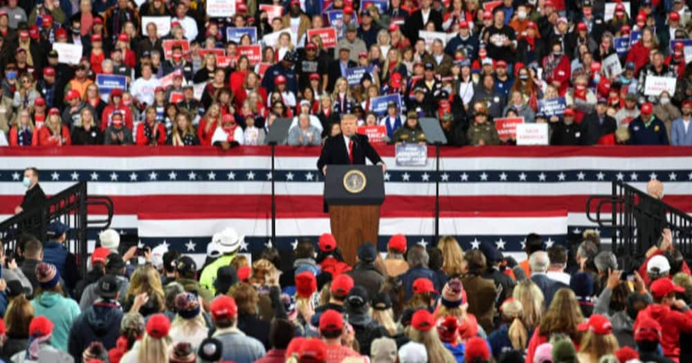 Donald Trump holds fast rally after losing election, campaigns for Republican Senate hopefuls