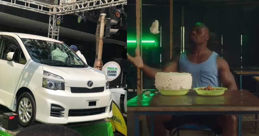Charles Odongo alias Ugali Man got a car and KSh 5 million