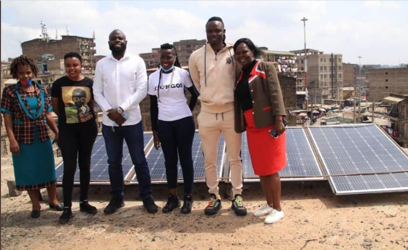 Victor Wanyama Donates Solar Panels in Impressive Goodwill Drive in Mathare
