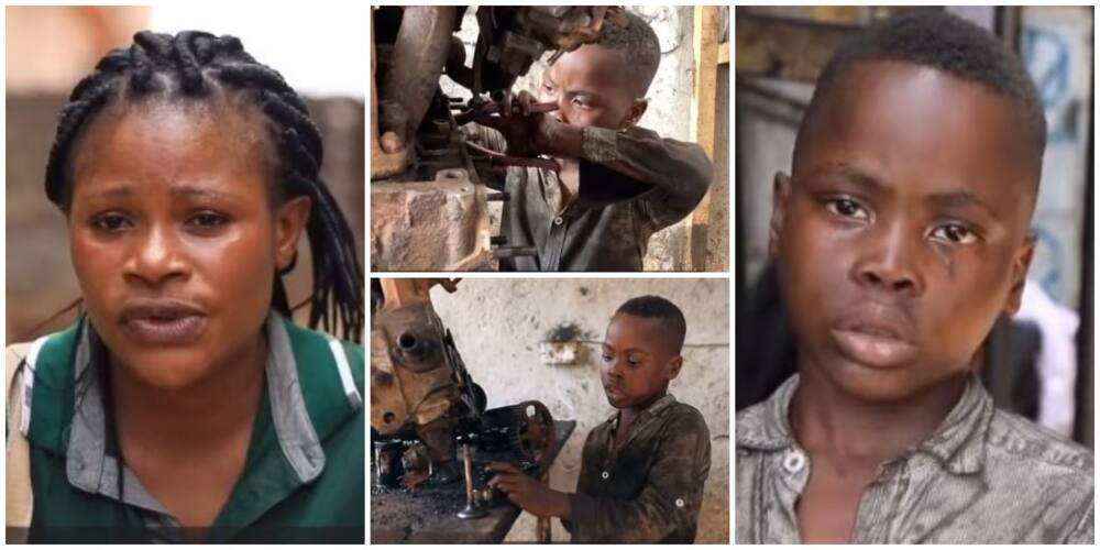 I still Beat Him to Stop But he Doesn't Listen, Mum of 6-Year-Old Boy Reacts to Her Son Being a Mechanic