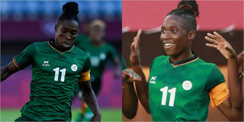 Barbara Banda: Zambian star scores hat-trick for 2nd game running to set Olympic record