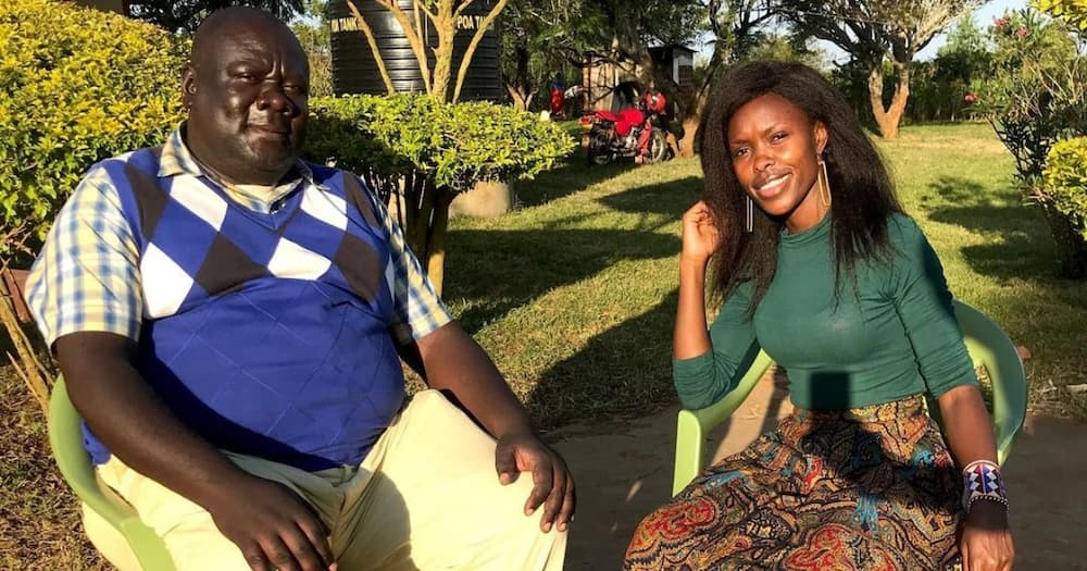 Actress Awinja introduces fans to late actor Papa Shirandula's lookalike younger brother