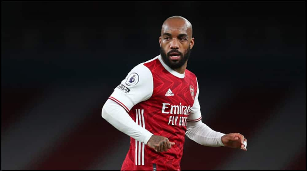Alexander Lacazette while in action for Arsenal. Photo: Catherine Ivill.
