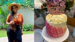 """Grace Msalame Celebrates Birthday with Cute Photoshoot, Shows Off Lovely Cake: """"This Is 35"""""""