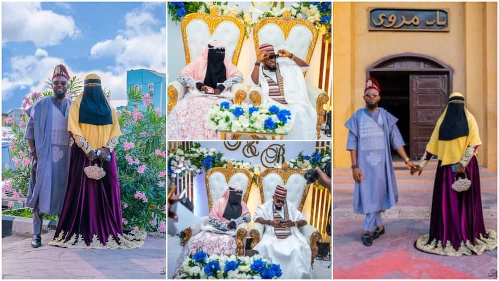 Photos of Couple's Islamic Wedding Stun Social Media With Touch of Modernity, Nigerians React